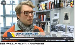 Dr. des. Sebastian Baden, Kunstwissenschaftler der HfG Karlsruhe, Im Interview mit Baden-TV